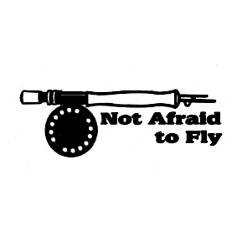 35cm Not Afraid To Fly Fish Fashion Car-Styling Stickers Decals Vinyl