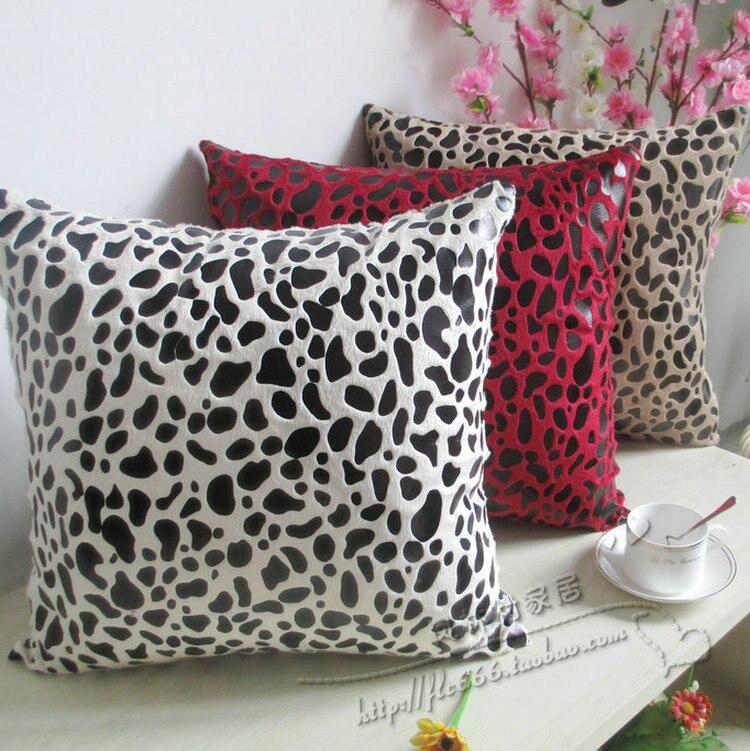 fashion leopard print sofa cushion pillow cove lumbar