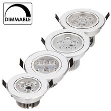 20pcs/lot wholesale price CREE 1W 3W 4W 5W 7W led downlights Recessed AC85-265V silver 110-770LM Cold /Pure/Warm white