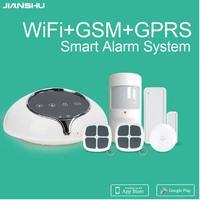 2017 New Wireless Smart Home WIFI Alarm System GSM WIFI GPRS SMS Network WIFI Alarm System