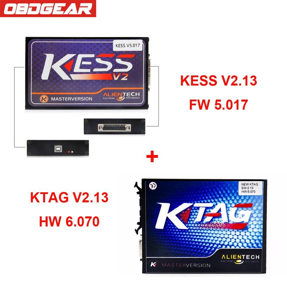 Kess V2 V2.3 5,017 OBD2 менеджер Тюнинг Комплект мастер Ver + KTAG V6.070 ЭБУ программирования инструмент полный Функция Kess V2 бесплатная ECM Титан ...