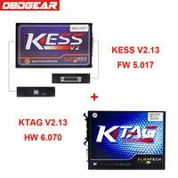 V2.3 5.017 OBD2 Gerente Sintonia Kit Kess V2 Mestre Ver + KTAG V6.070 Função Kess V2 ECU Ferramenta de Programação Completa Livre ECM Titanium
