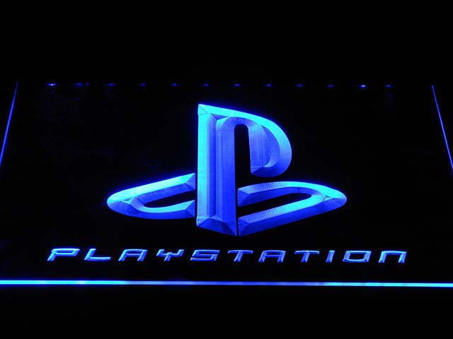 E175 Playstation Neonzeichen mit Auf/Aus-schalter 20 Farben 5 Größen zu wählen