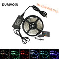 DUMVOIN IP65 Waterproof 5M 3528 RGB 300LEDs Flexible LED Strip DC 12V+20 Key IR Music Controller+12V 3A 36W Power Supply