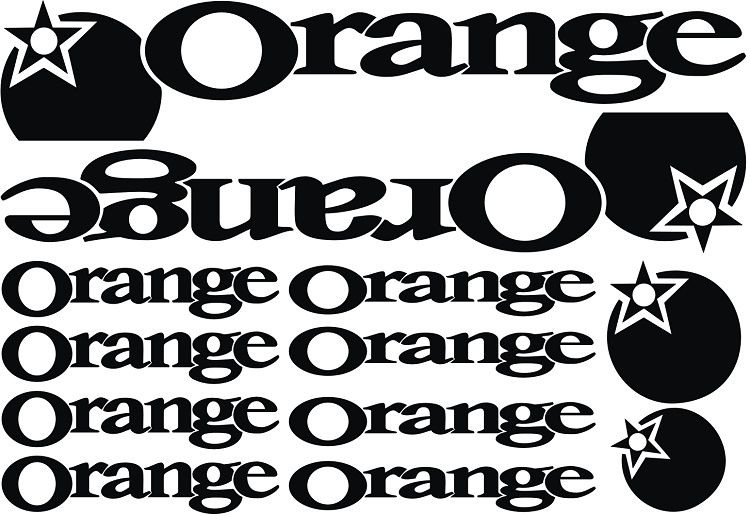 1SET Orange Bike Decals DIY Frame Stickers Bicycle Stickers Die-cut decal / sticker sheet (cycling, mtb, bmx, road, bike) west biking bike chain wheel 39 53t bicycle crank 170 175mm fit speed 9 mtb road bike cycling bicycle crank