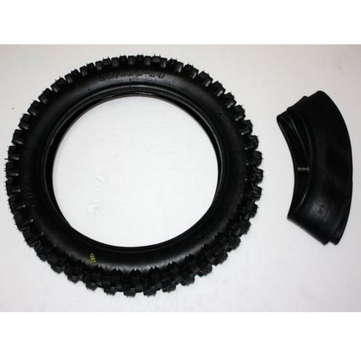 90 100 14 inch Rear Back Knobby Tyre Tire Tube PIT Trail Bigfoot Dirt Bike