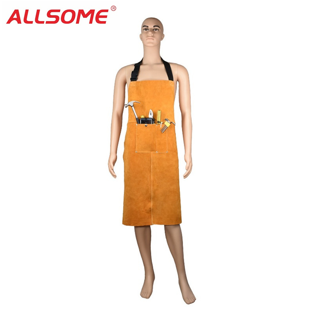 Constructive Allsome Cowhide Leather Welders Welding Apron Heat Insulation Protection Welders Blacksmith Workwear Protective Clothing Ht1724 Keep You Fit All The Time Welding & Soldering Supplies