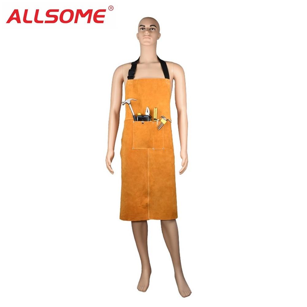 Allsome Rundleer Lassers Lassen Schort Warmte-isolatie Bescherming Lassers Smid Werkkleding Beschermende Kleding Ht1724