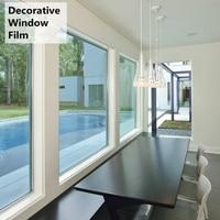 Decorative Non Reflective Window Glass Film Solar Tint Film Light Blue Building Decor 60 x 10ft (152cm x 300cm)
