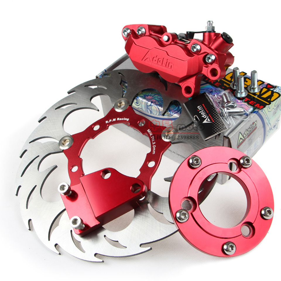 Modified motorcycle brake system set Universal 260mm brake disc+HF6 brake caliper+brake adapter For Motorcycle Front/Rear wheel motorcycle front