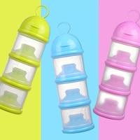 3 цвета формула контейнер для молока ребенка путешествия удобство трехслойный пищевой контейнер для хранения детского здоровья коробка дл...