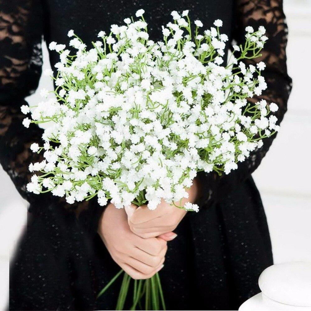 7 unids Gypsophila Artificial Flores Respiración del bebé Flor De Seda para la D