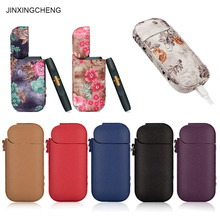 JINXINGCHENG 2PCS Lot Case for IQOS 2.4 Plus Pouch Bag  PU Leather Protective Holder Cover