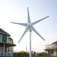 5 blades wind turbine generator 400w wind generators. 12V/24V optional. Used for land&marine. 3 years warranty