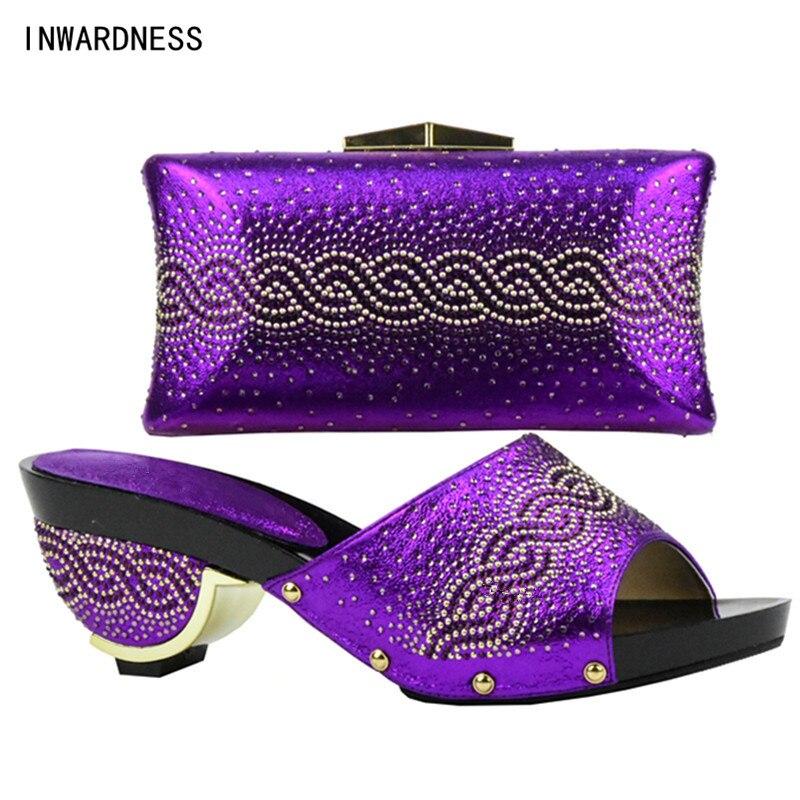 Bolso Las Con Alta Italianos Fiesta África Los De Establece Mujeres rosado Cielo Zapato La Conjunto El Zapatos púrpura Juego Bolsas Azul Diseño oro Calidad plata Para A Y Último qTUw7O7