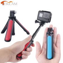 Tekcam Tripod Selfie Stick Mount for Go pro hero 7/6/5/4 Gopro Session Mount SJCAM SJ6 SJ7 SJ8 SJ5000/XIAOMI YI 4K Lite Eken h9r shoot 19 49cm portable selfie stick extend monopod for gopro hero 7 5 6 session xiaomi yi 4k sjcam sj4000 sj5000 eken h9 camera