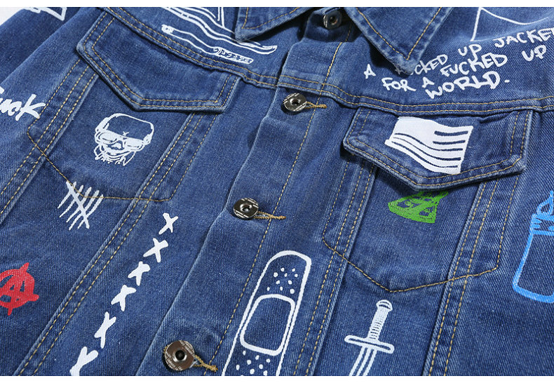 HTB1wtPCXdzvK1RkSnfoq6zMwVXaE Hip Hop Fashion Printed Jeans Jacket Men Cotton Casual Streetwear Autumn New Denim Jacket Coat For Men