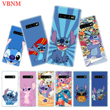 Disneys Stitchs Cute Soft Phone Case for Samsung Galaxy S10 Plus S10E A50 A70 A30 A10 A20E M40 M30 M20 M10 A20 A80 A40 A60 Cover