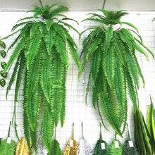 Flone Зеленые искусственные растения лист Висячие лоза папоротник листья Цветок Трава персидская трава Свадебный домашний декор с рисунком растений искусство