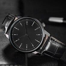 2016 Brand Luxury Mens quartz-watch Wrist Watches For Men Soft Leather Relojes Hombre Clock Men horloges mannen Montre Homme
