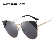 MERRY'S Women Cat Eye Sunglasses Brand Designer Retro Pierced Female Sun Glasses Classic Shades S'8070