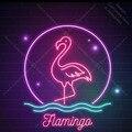 Неоновая вывеска для Фламинго неоновая трубка вывеска ручной работы коммерческий дисплей неоновый фонарик вывеска украшение пивной бар пи...