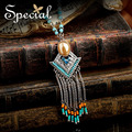 Special New Fashion Natural Stone Necklaces & Pendants CZ Diamond Maxi Necklace Vintage Jewelry Gifts for Women XL160314