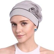 Frauen Rüschen Chemo Turban Stirnband Schal Beanie Kappe Hut für Krebs Patienten Hijib Muslimischen Auszug Frühling Sommer Hüte Headwear
