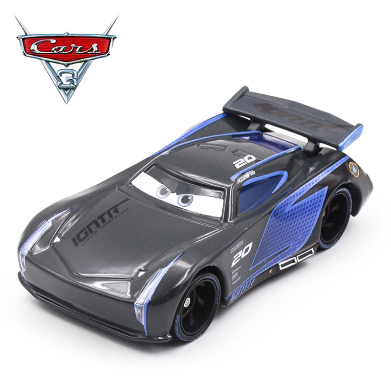Disney pixar cars 3 black jackson storm 1 55 scale mini for Three jackson toy