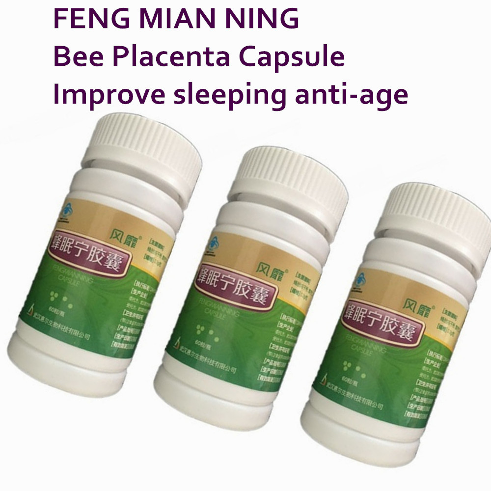 3 Bottles Feng Mian Ning Bee Placenta Unique products from embryos ROYAL BEE curing insomnia and slows the aging process chaos шапка bee 090 royal