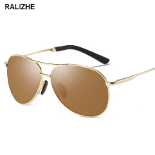 RALIZHE Polarized Vintage Sunglasses Men Retro Classic Pilot Drive Gold Brown Sun Glasses Brand Designer Fashion Women UV400
