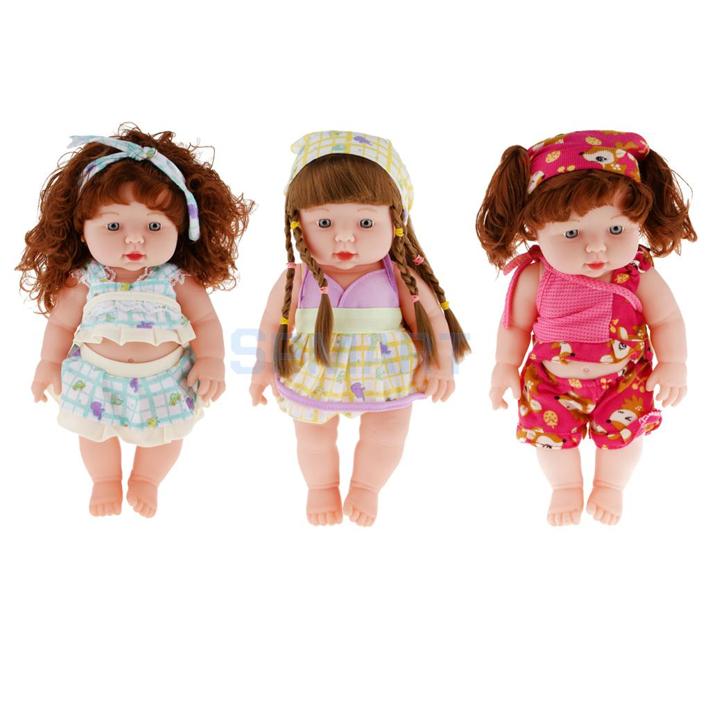 Full-Silicone-Baby-font-b-Doll Realistic Silicone Baby Doll Vinyl Real Life Lifelike Baby Girl in  Fuchsia(China (Mainland