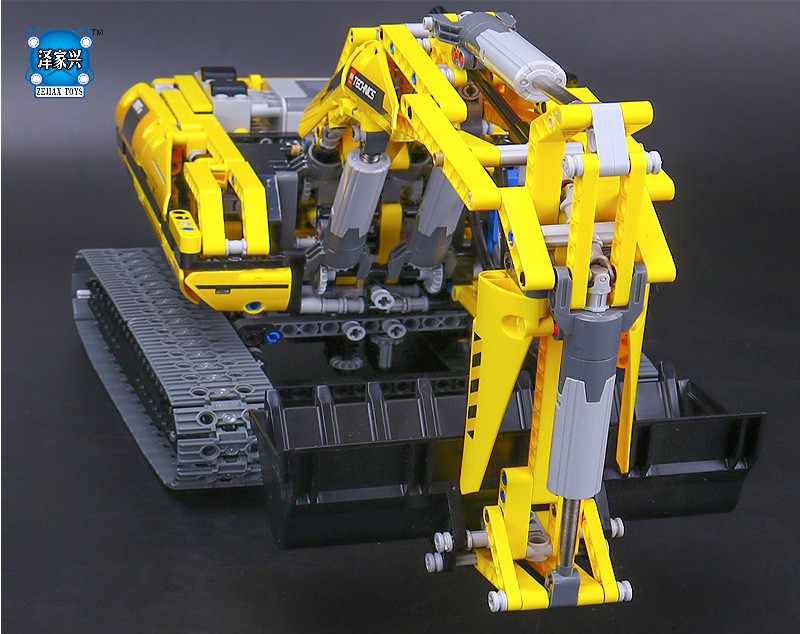 New LEPIN MOC technic series 1123pcs excavator Model Building blocks Bricks Compatible Toy Christmas Gift 8043 Educational Car in stock new lepin 21009 fxx 1 17 toy building blocks 632pcs technic racing sports car supercar model boy gift compatible 8156