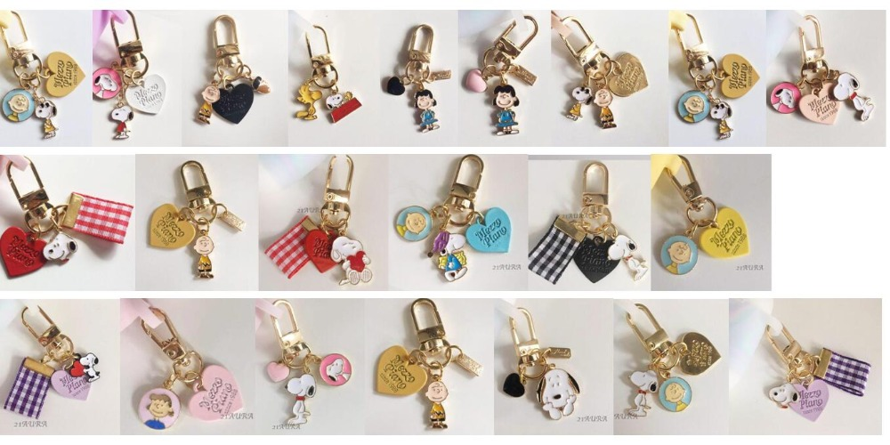New Cartoon anime 20pcs dogs cute Keychain Jewelry Accessories Key Chains Pendant Gifts Favors