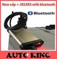 Mejor Coche herramientas de Diagnóstico CDP Pro plus cdp + con bluetooth de Oro Para coches/Camiones Auto tcs cdp pro obd OBD2 Escáner Envío Gratis