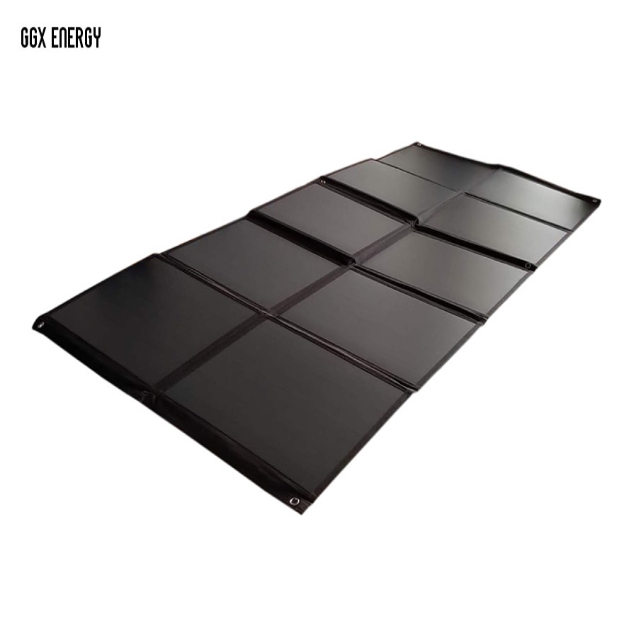 GGX ENERGY 200W Mono Solar Cells Panel Portable Folding Solar Bag Solar Power Charging Kit for