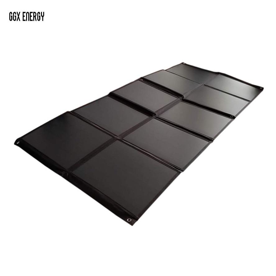 GGX ENERGY 200 W Mono cellules solaires panneau Portable pliant sac solaire Kit de charge d'énergie solaire pour batterie de voiture 12 V/ordinateur Portable/RV/camping-Car
