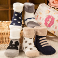 10pieces/5Pair Baby Girl Boy Newborn Toddler Infant Winter Warm Boots Toddler Infant Soft Socks Booties Shoes 0-3 Year old F10