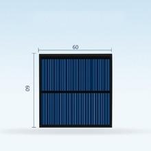 10pcs 6060 태양 전지 패널 5.5v 80ma 미니 태양 광 시스템 DIY 배터리 휴대 전화 충전기 휴대용 생성 전기