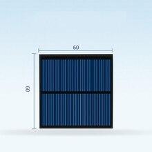 10pcs 6060 del Pannello Solare 5.5v 80ma Mini Sistema Solare FAI DA TE Per La Batteria Del Telefono Cellulare Caricabatterie Portatile di generare energia elettrica