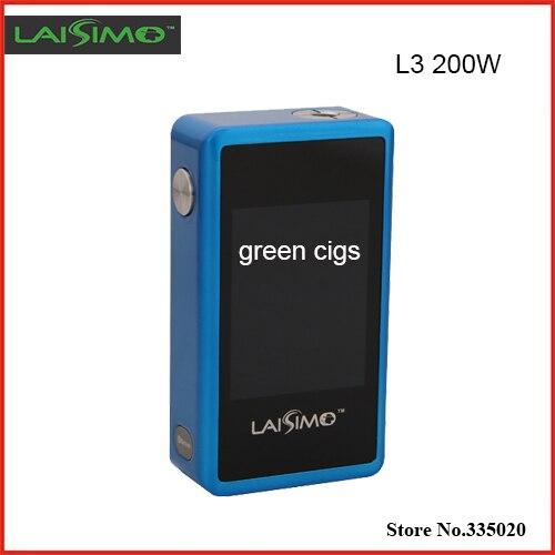 Original LAISIMO L3 200 W Caja Mod VW Temperatura TC Touch control Dual 18650 Mod con Pantalla TFT