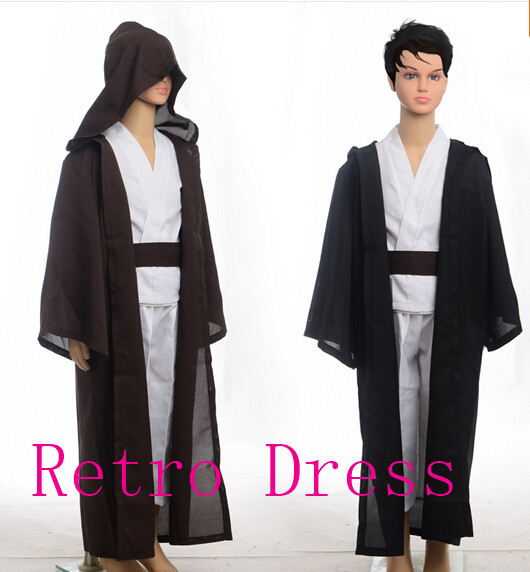 Unisex Kids STAR WARS Robe Jedi Sith Cosplay Children Black Brown Hooded  Cape Cloak Classic Halloween Costumes f22be15ad