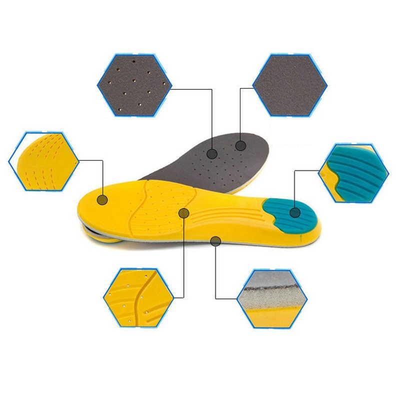 1 çift spor tabanlık bellek köpük asma astarı ter emme pedleri koşu spor ayakkabı ekler nefes tabanlık