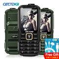 Cectdigi 2016 mais recente t9900 dual sim desbloqueado telefone celular quad band teclado russo 15800 mah banco de potência telefone robusto militar