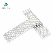 עמיד כסף אלומיניום מקרין סנפיר קירור צלעות קירור 100*25*10MM עבור LED כוח טרנזיסטור חשמל רדיאטור שבב