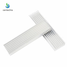 Dayanıklı gümüş alüminyum radyasyon Fin soğutma soğutucu 100*25*10MM LED güç transistör elektrik radyatör çip