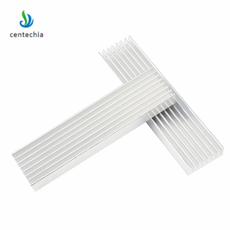 Durable Silver Aluminium Radiating Fin Cooling Heatsink 100*25*10MM for LED Power Transistor Electrical Radiator Chip(China)