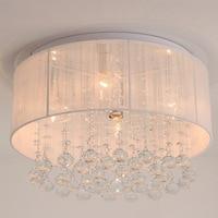 Cloth Lampshade Drops Of water Crystal Modern Crystal Chandeliers Wave Crystal Ceiling Pendant Lamps Lighting Rain Drop WPL157