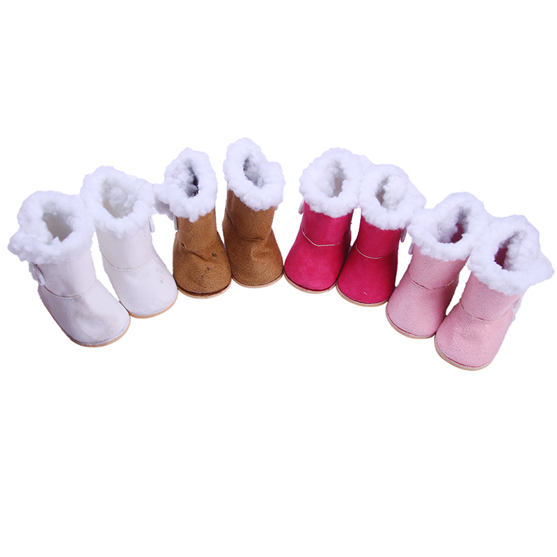 Doll Boots Shoes Cotton Leather Winter Boots For 18 Inch American Doll &43 Cm Born Doll For Generation Girl`s Toy Christmas Gift