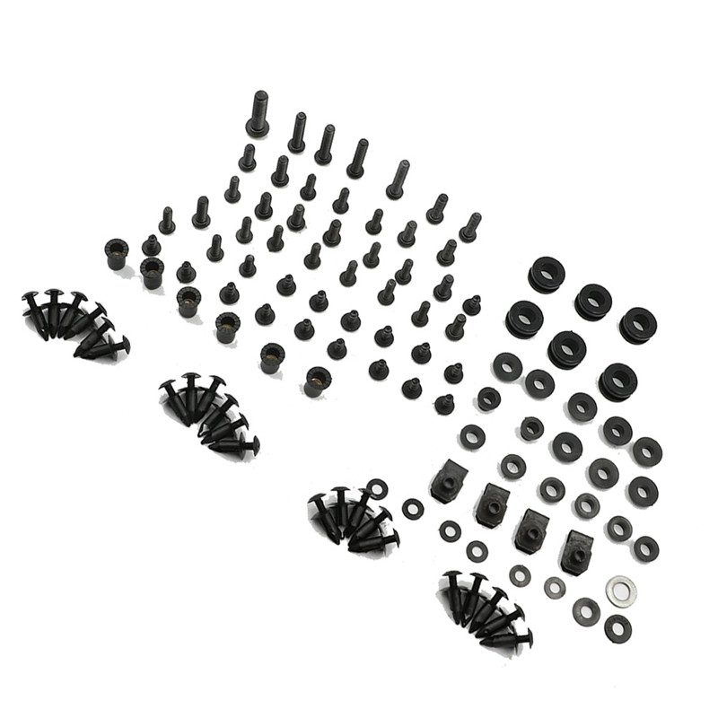Motorcycle Black Complete Fairing Bolts Kit Washer Fasteners Clip Screws For Suzuki GSXR 600 / <font><b>GSX</b></font>-R <font><b>750</b></font> K8 <font><b>2008</b></font> 2009 2010 image
